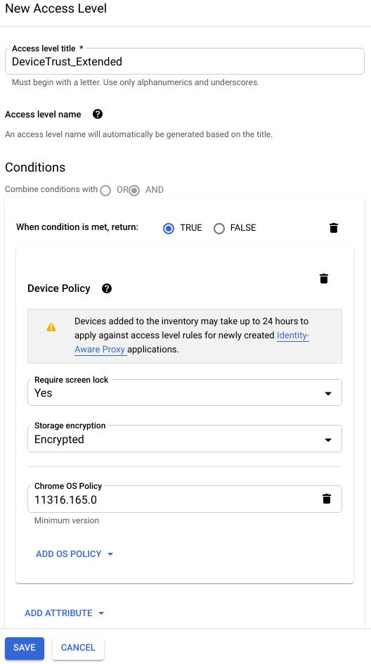 Creating an access level | Access Context Manager | Google Cloud