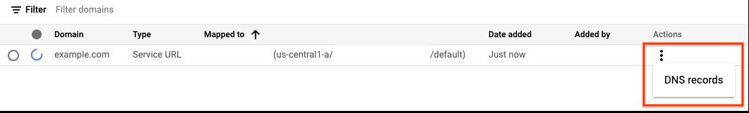 sélectionner les enregistrements DNS