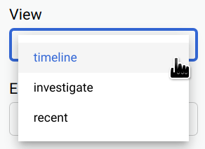 Select timeline view.