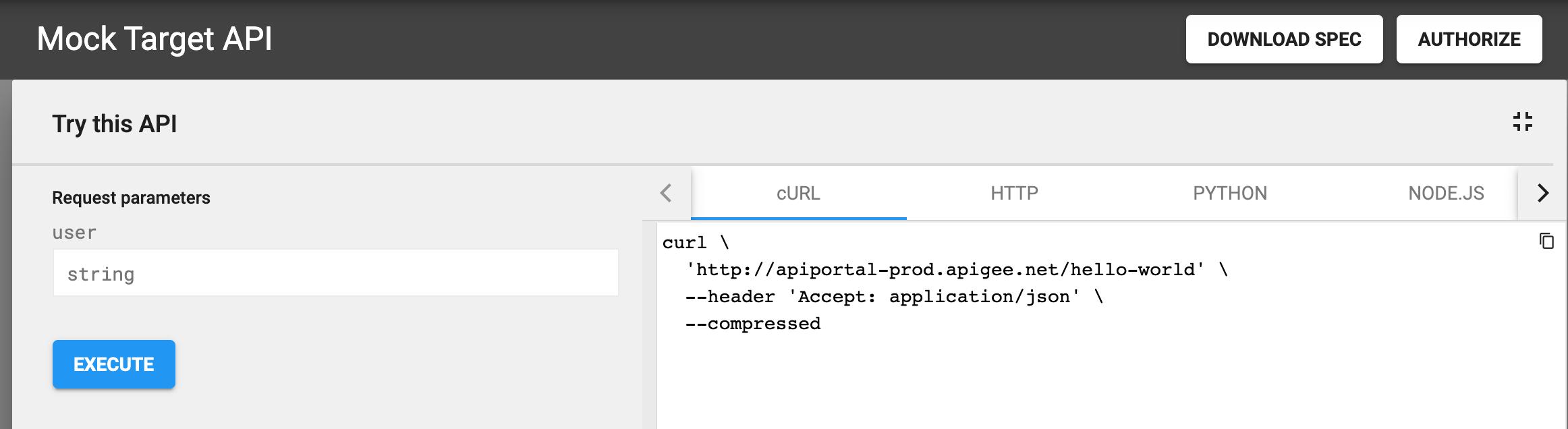 """Expandir painel """"Testar esta API"""""""