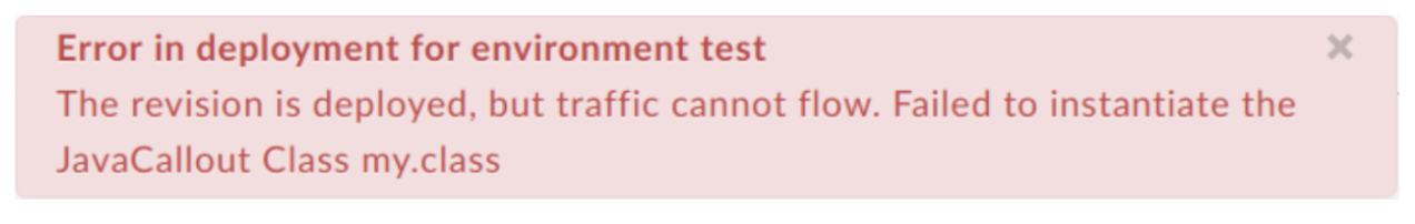 Error in deployment for environment test.
