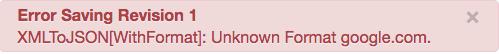 """Message d'erreur """"Format inconnu"""""""