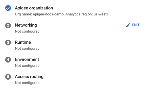 Create organization screen