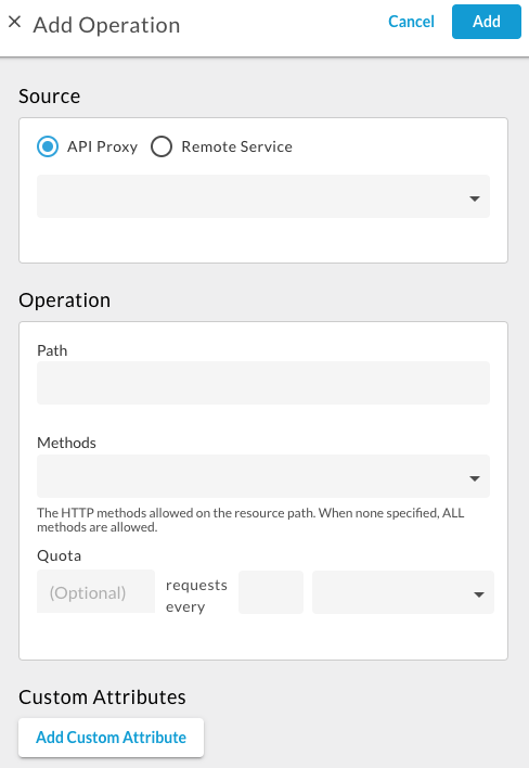 Add a new operation for the API product.