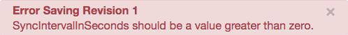 Erreur lors de l'enregistrement de la révision1