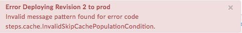 """Erreur lors du déploiement de la révision1 sur """"prod"""" – Population."""