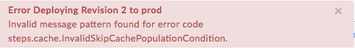 Error deploying revision 2 to prod - Population.