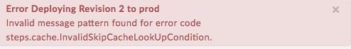 """Erreur lors du déploiement de la révision1 sur """"prod"""" – LookUp."""