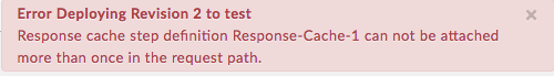 Error deploying revision 2 to test.