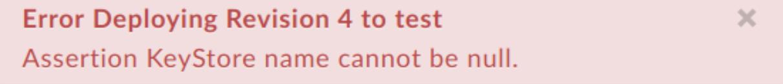 """Erreur lors du déploiement de la révision4 sur """"test""""."""