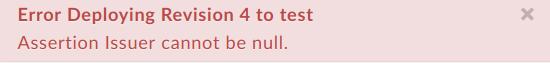Fehler beim Bereitstellen von Überarbeitung4 zum Testen.