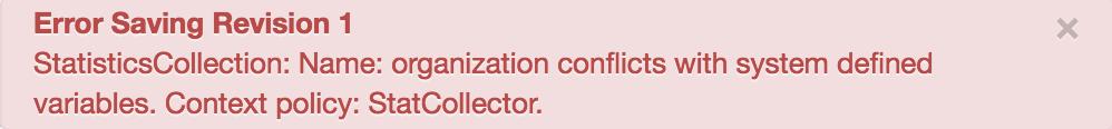Message d'erreur indiquant que le nom n'est pas valide.