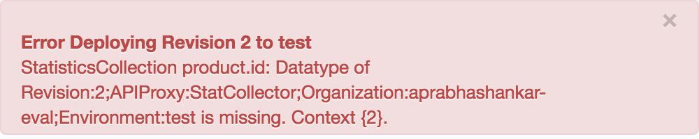 Message d'erreur indiquant que le type de données est manquant.
