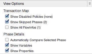 view options list