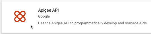 Opción del servicio de API de Apigee