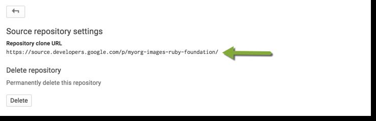 Jenkins リーダーのソース リポジトリの設定。