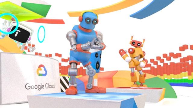Resolución un poco más alta de la misma imagen de robots