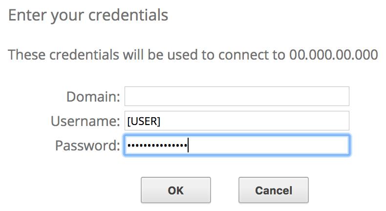 Conéctate a la estación de trabajo virtual de Windows y, luego, ingresa una contraseña.