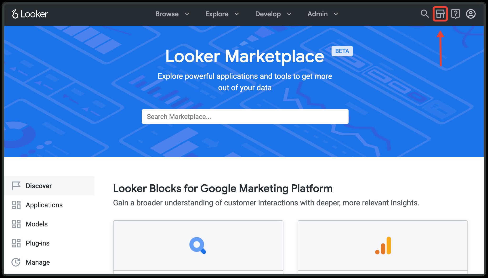 Buscar bloques de Looker