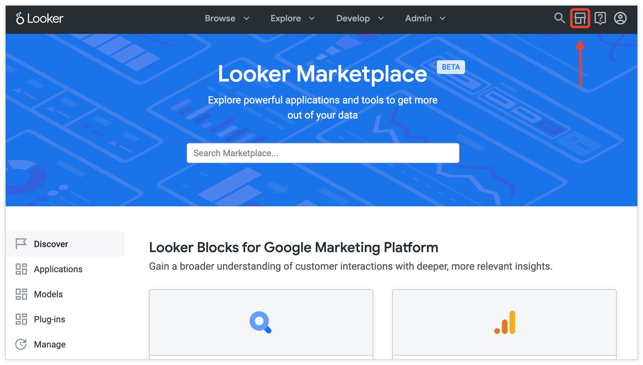 search for Looker Blocks