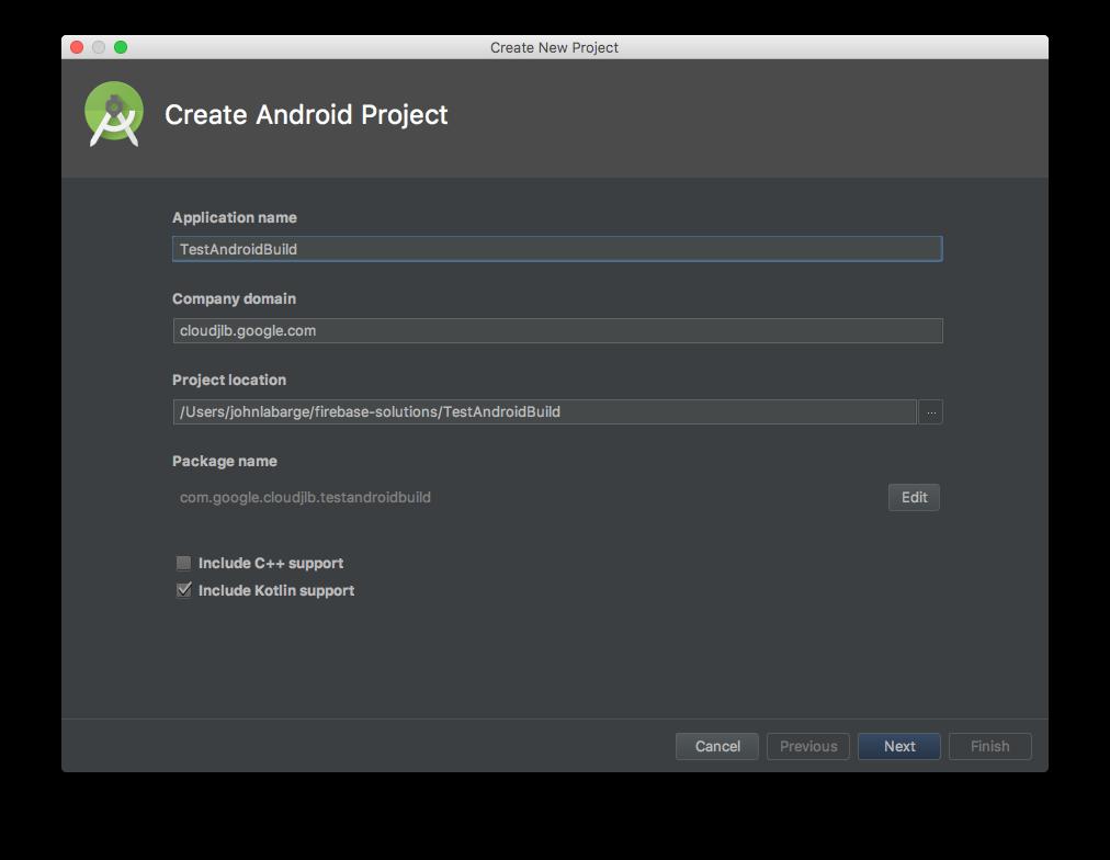 Assistente do Android Studio, página 1