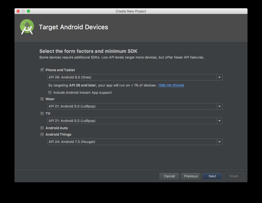 Assistente do Android Studio, página 2