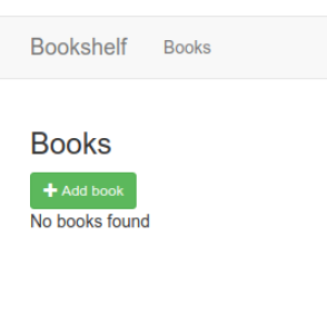 Página web predeterminada para la app de Bookshelf.
