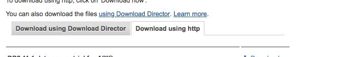 Download using http tab
