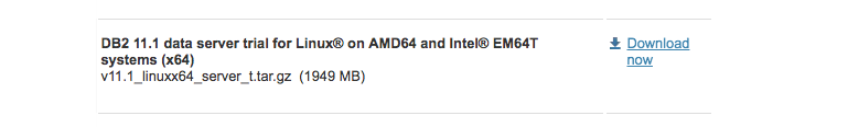 Download B2 11.1 data server trial for Linux® on AMD64 and Intel® EM64T systems (x64)