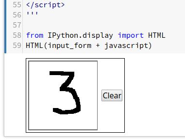 El número3 dibujado con un cursor