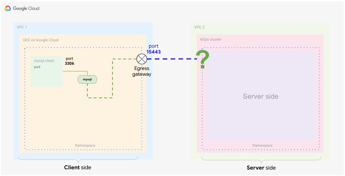 Egress-Gateway zur Überwachung auf den für den externen Dienst vorgesehenen Traffic