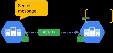 Criptografia do tráfego usando a autenticação mútua (mTLS).
