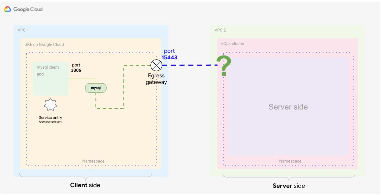 サービス エントリ定義を使用して、Istio レジストリにエンドポイントを追加します。