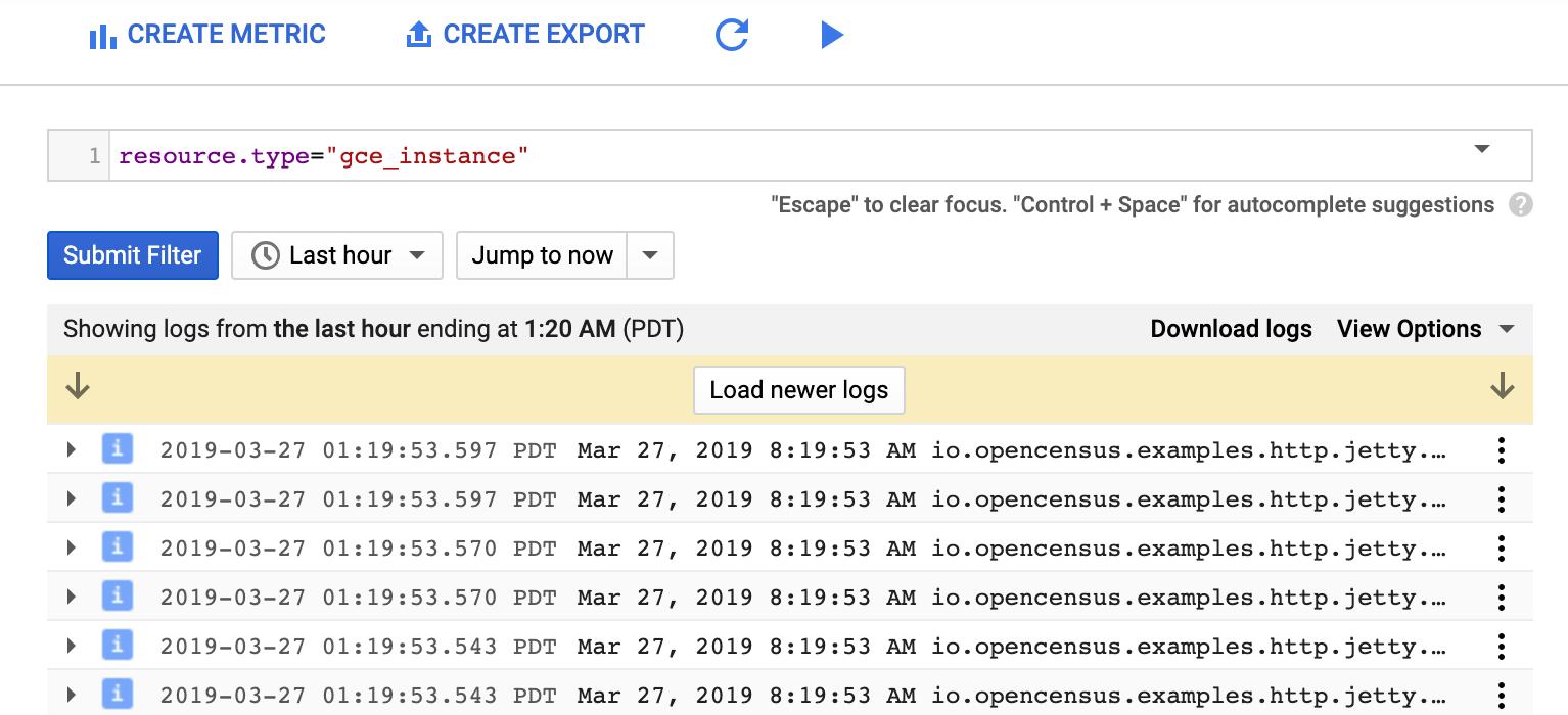 Log filter for Compute Engine instance.