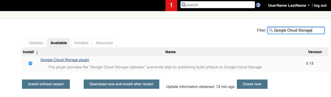 Cloud Storage plugin.