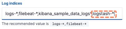 Datos de visualización de Kibana.