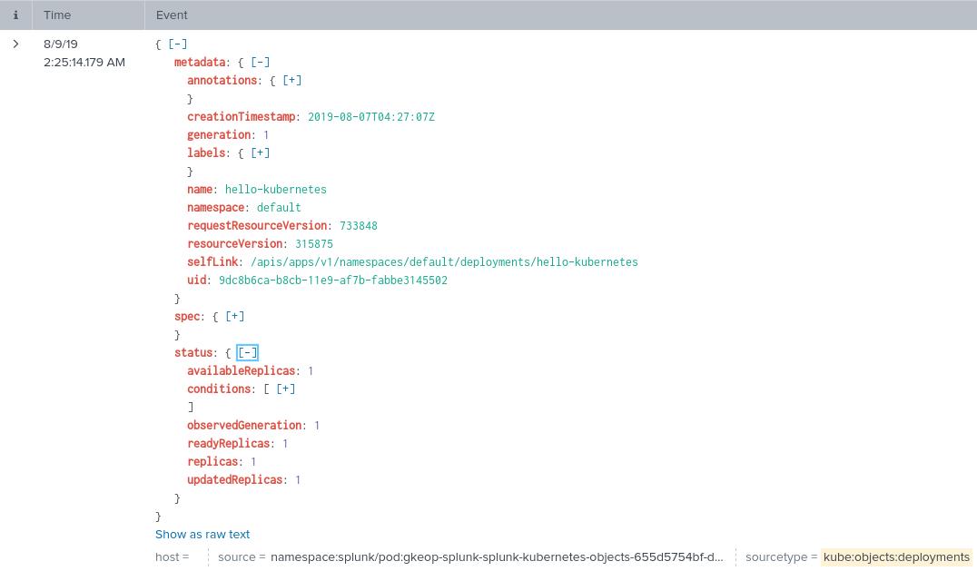 Metadata snapshots for Kubernetes objects.