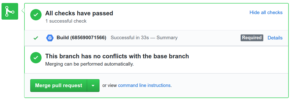 Show all checks in a pull request.