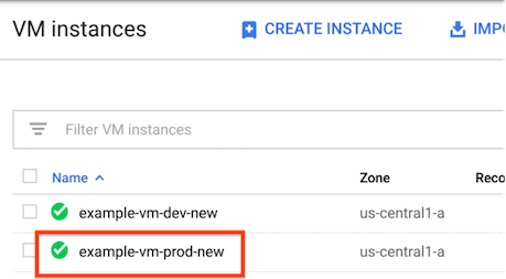 Check whether your production VM was deployed.