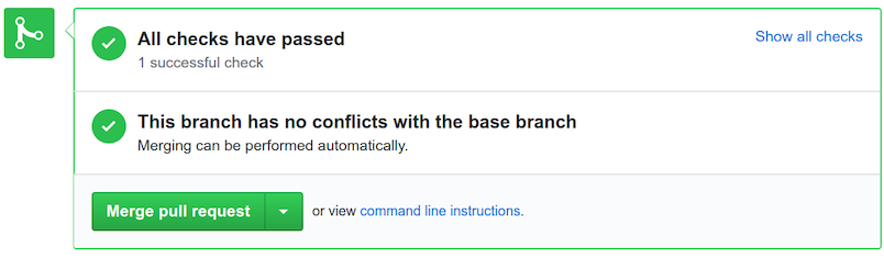 Merge and confirm a pull request.