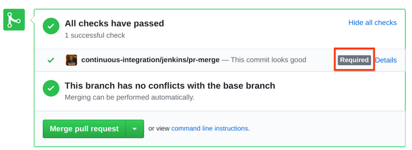 Verifying that your configuration was applied.