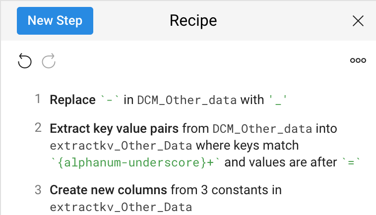 Cloud Dataprep recipe