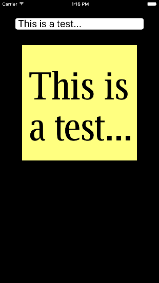 This is a test...