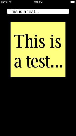 Este é um teste...