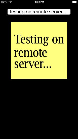 Testing on remote server...