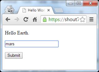Shout app user interface