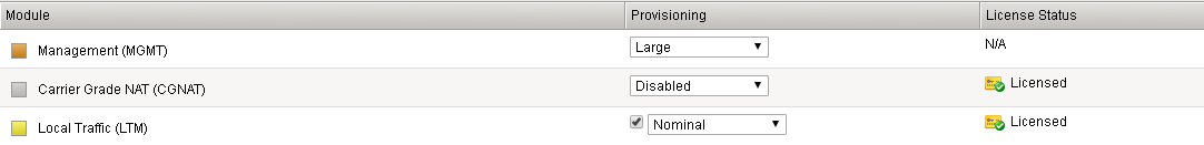 VM setup utility with local traffic configuration.