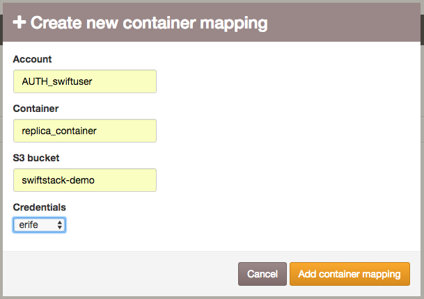 Create new mapping container.