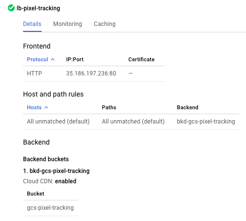 User interface shows configuration for HTTP load balancer.