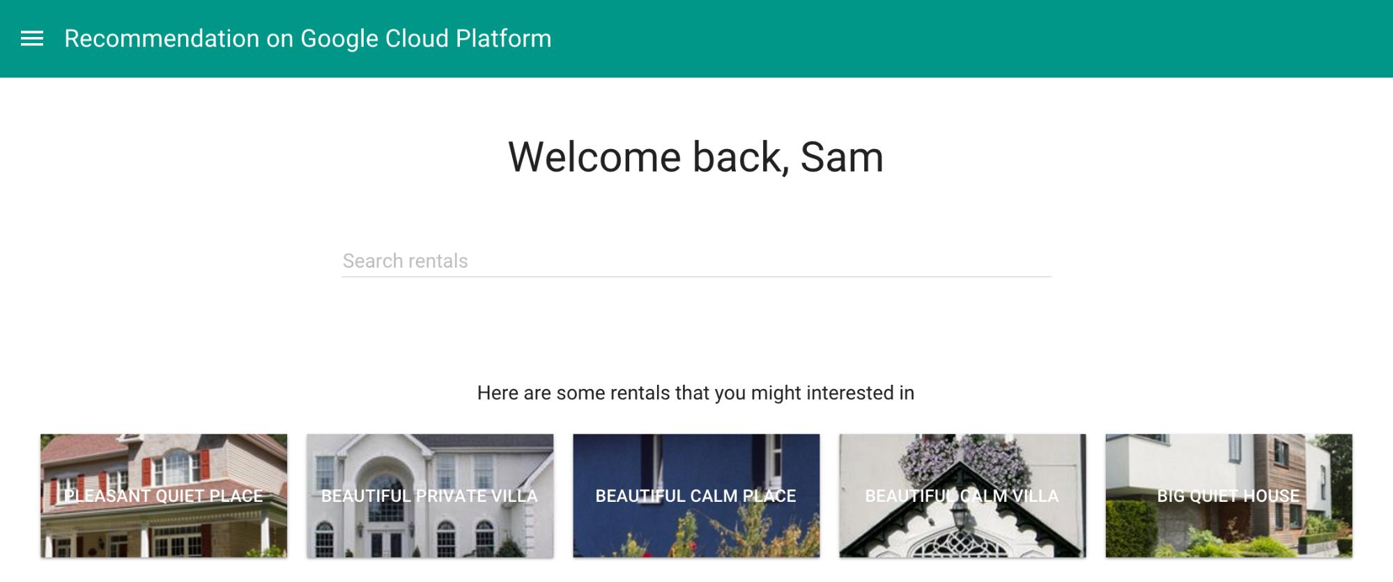 Interface de usuário com resultados